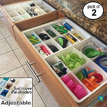 Divisori regolabili per cassetti da cucina espandibile organizzatore del cassetto e divisore per - Divisori per cassetti cucina ...