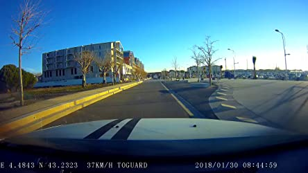 TOGUARD Cámara de Coche GPS WiFi Grande Ángulo de 170° Dash CAM Full HD 1080P, Dashcam Coche con Objetivo Ajustable Pantalla 2.45 Pulgadas IPS LCD, ...