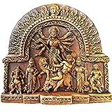 KUTHKRIT Goddess Durga Family | Terracotta Idol | Home Decoration | Handcrafted | Clay Idol