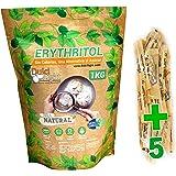 DULCILIGHT Eritritol Edulcorante 100% Natural 1 Kg con Cero Calorias + (5 sobres de obsequio Nuevo Edulcorante Moreno) Sustit