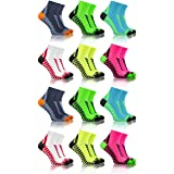 Sesto Senso Calcetines Deporte Colores Cortos Algodón Hombre Mujer 3-12 Pares
