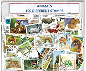 Animal Stamps 100 Different CTO for Stamps Collection
