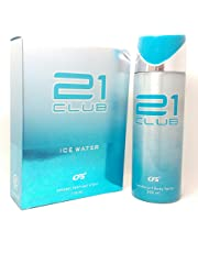 CFS 21 Club Ice Water Deodorant Body Spray and Perfume Combo,Body spray-200ml,Perfume-100ml(cfs_21iwperfdeo) - Set of 2