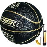 Ballon de Basket Balle Utilisation Extérieure Intérieure, Ballon de Basket Taille 7 avec Pompe