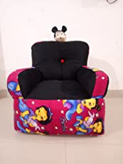 AMENA ENTERPRISES Soft Plush Sofa for Baby with Various Colours and Designs, 1-5 Years (Multicolour)