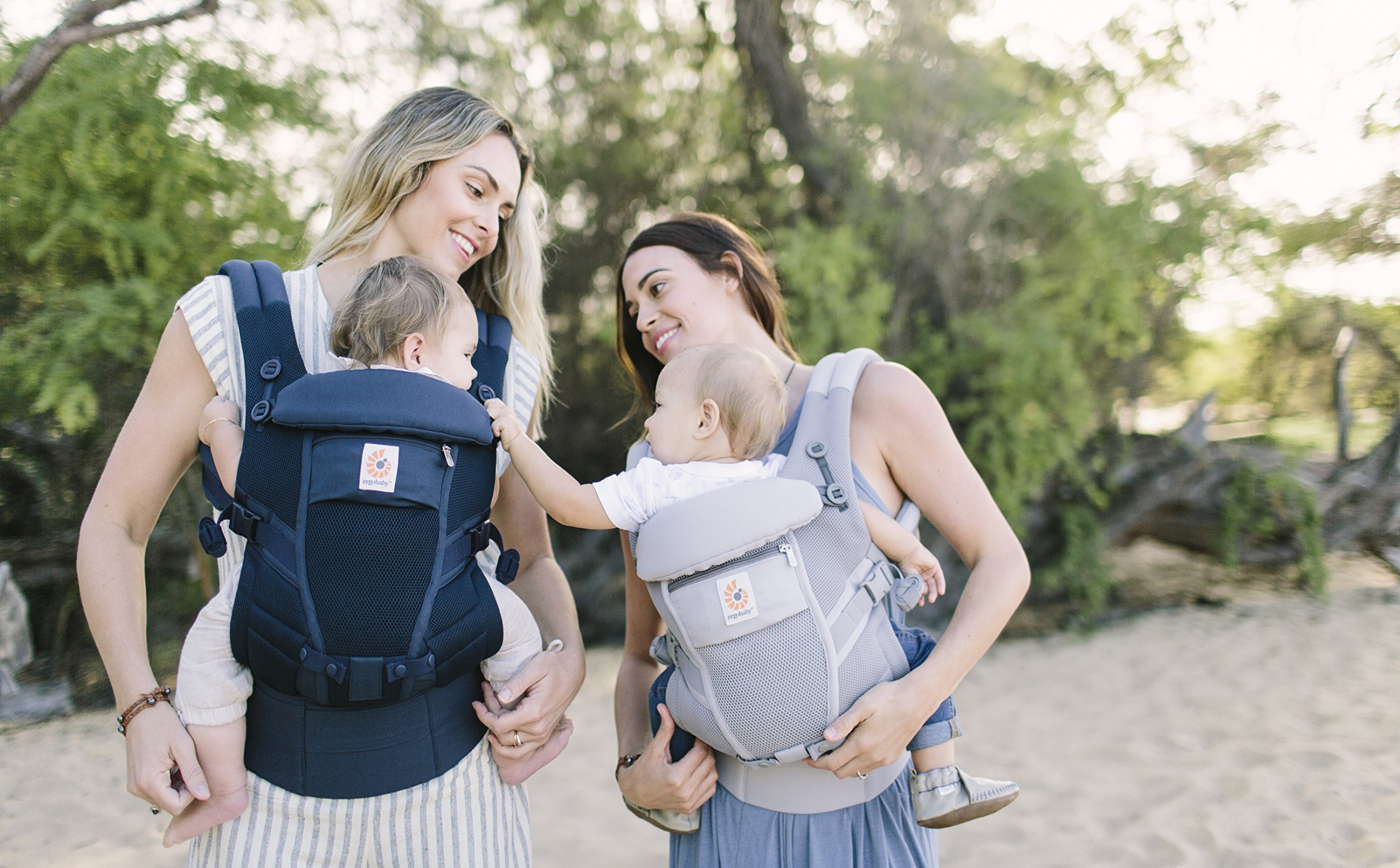 Ergobaby Baby Carrier for Newborn to Toddler up to 20kg, Adapt 3-Position Cool Air Mesh, Deep Blue Ergobaby Ergonomic bucket seat gradually adjusts to a growing baby from newborn to toddler (3.2 -20kg) No infant insert required 3 ergonomic carry positions: front-inward, hip and back 6