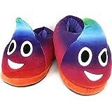 Desire Deluxe Pantofole Peluche Emojis - Pantofole Donna e Pantofole Uomo Invernali - Emoti Cacca Arcobaleno per Idea Regalo