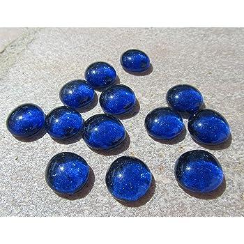 "Seedeco® Glasnuggets Glassteine 30 Stück ca.17-22mm Hellblau /""Top Qualität/"" 112"