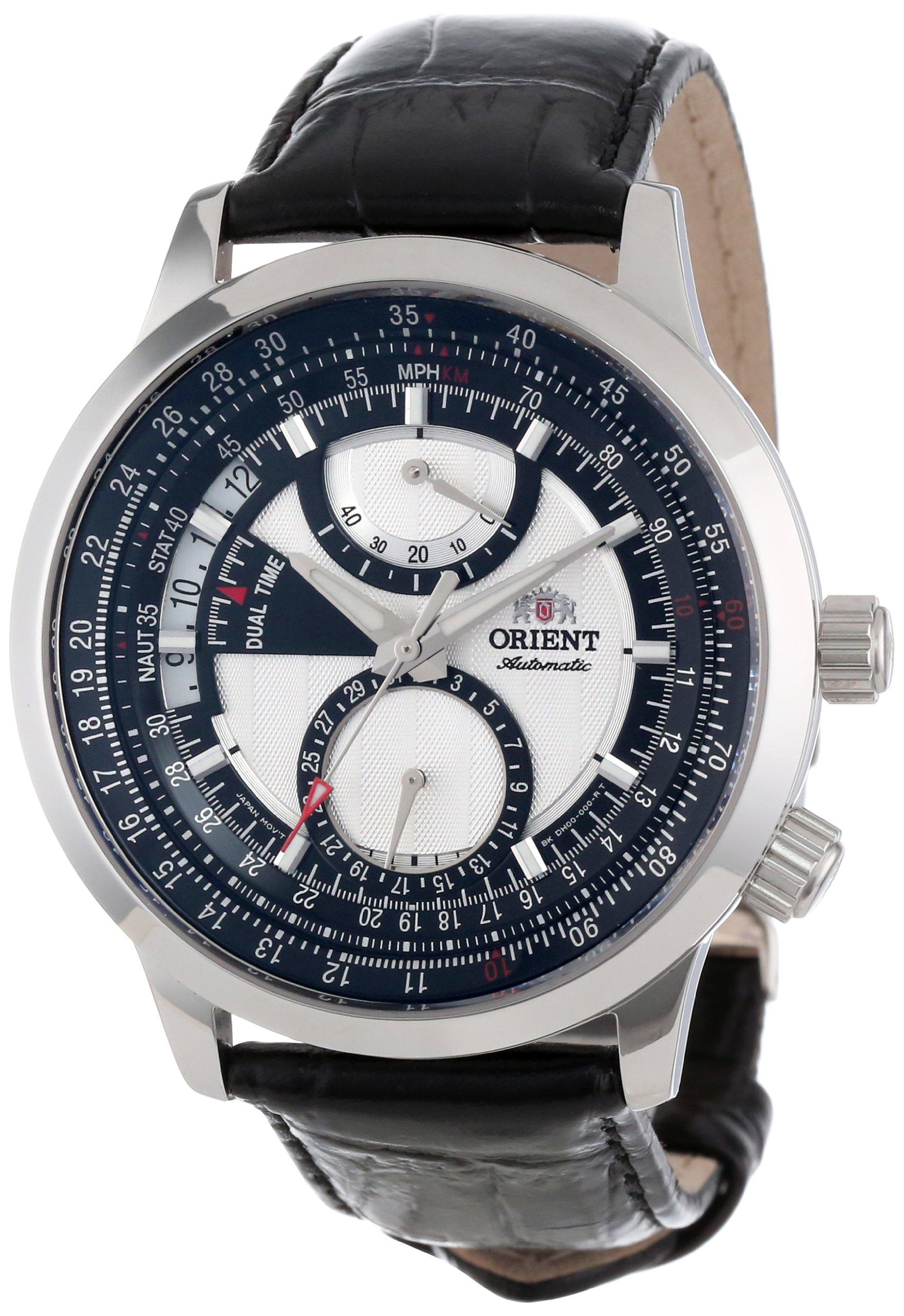 ORIENT CDH00001W – Reloj de Pulsera Hombre, Piel, Color Negro