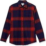 Amazon Essentials - Camicia da uomo, a maniche lunghe, vestibilità standard, a quadri, in flanella