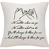 Dankhra, federa per cuscino per donne e uomini, per migliore amico, coppie, amanti, amicizia, famiglia, idea regalo di comple