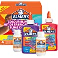 ELMER'S Kit per Slime Colorato, include la Colla Vinilica Colorata Lavabile, Colori assortiti, con Liquido Magico Attivatore