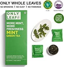 Onlyleaf Mint Green Tea, 27 Tea Bags with 2 Free Exotic Samples