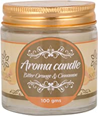 NATUUR Aroma Candle - Bitter Orange and Cinnamon - 100 grams (Brown)