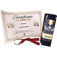 Regalo originale divertente -Certificato scherzo Attestato da personalizzare per ricorrenze celebrazioni laurea diploma…