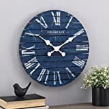 FirsTime & Co.® Navy Augustus Farmhouse Shiplap Clock, American Designed, Navy, 18 x 2 x 18 inches