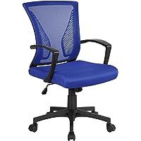 Yaheetech Chaise de Bureau à Roulettes Pivotante Fauteuil pour Ordinateur en Maille Mesh Hauteur Réglable Inclinable…