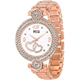 YOUTH CLUB Analogue Girls' Watch (White Dial Rose Gold Colored Strap)