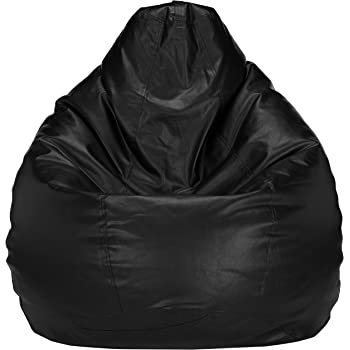 Amazon Brand - Solimo XXL Bean Bag Cover Without Beans (Black)