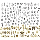 LABOTA 150 piezas Colgantes tibetanos del encanto de plata retro al por mayor mezclados para de la joyería de bricolaje, llav