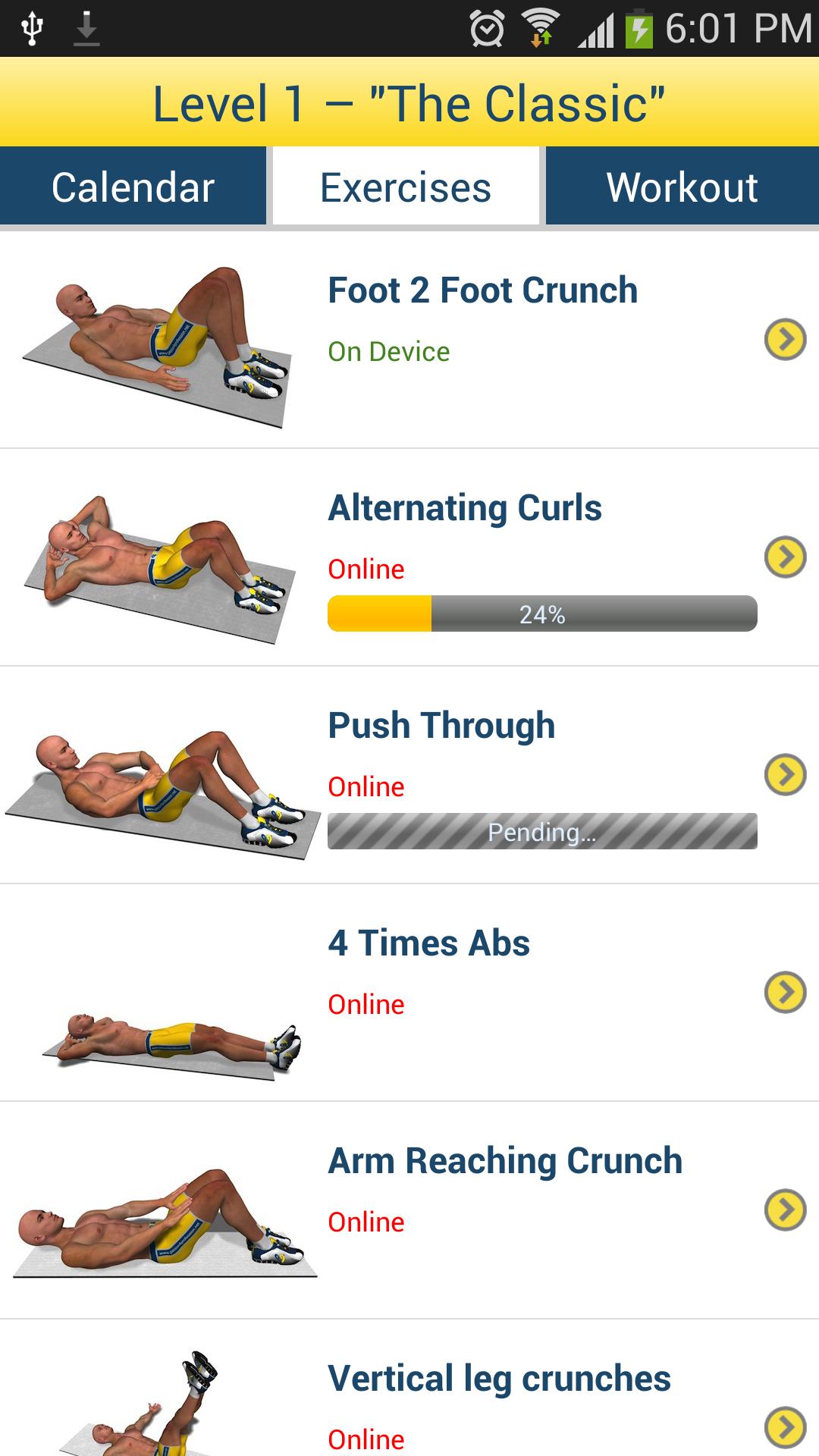 Bauchmuskeln in 8 Minuten: Amazon.de: Apps für Android
