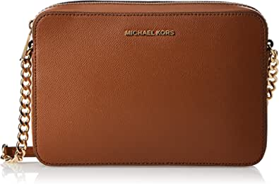 Michael Kors LG EW Crossbody, Borsa a Tracolla Donna, Nero, 24x16x7 cm (B x H x T)