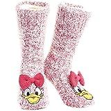 Disney Calcetines Antideslizantes Invierno Mujer Con Personajes Stitch Mickey Minnie, Zapatillas de Punto Forro Polar Para Es