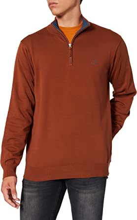 GANT Men's Classic Cotton Half Zip Sweater