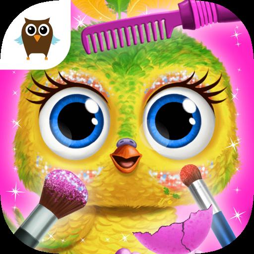 Baby Animal Hair Salon 3 - Newborn Hatch & Haircut (Up Owl Dress)