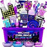 Original Stationery Galaxy Slime para Niños Kit Galaxy Slime Estrellas Que Brillan en la Oscuridad y Polvo de Slime para Hace