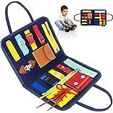 Gcroet Busy Board Panneau Educatif Jouets pour Enfant,Jouets Sensoriels Montessori Jouet à Fileter Laçage pour Bébés,Premiers