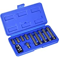 Alkan-Werkzeug - Set di 11 punte a cricchetto Spline per chiave a bussola B4