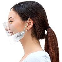 Urhome, 1 x visiera di protezione bianca per adulti, visiera per naso e bocca, visiera per la protezione dai liquidi, in…