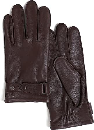 YISEVEN Damen Lederhandschuhe aus Hirschleder mit Lammwolle Futter von Handgen/äht Geschenk,