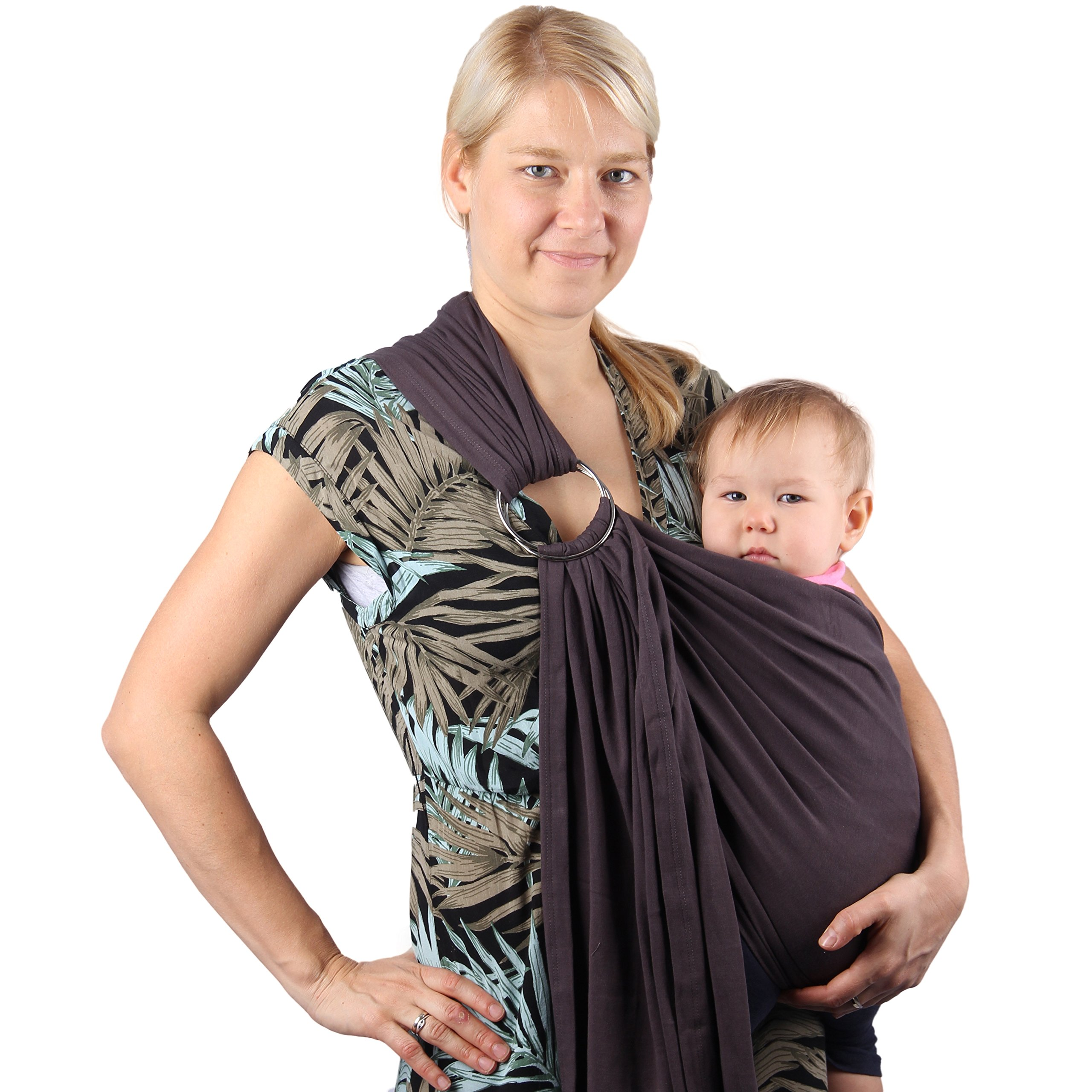Neotech Care Baby Sling Carrier Cotton With Rings Adjustment For Infant Newborn Child Toddler Beige