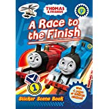 Thomas and Friends: A Race to the Finish (Sticker Scene Book)