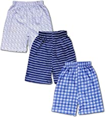 T2F Kids' Shorts (Pack of 3, Multicolour)