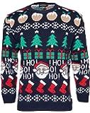 NOROZE Hommes Femmes Noël Pull-Over Pull Père Noël HoHo Étoile Nouveauté Chandail Sweat-Shirt