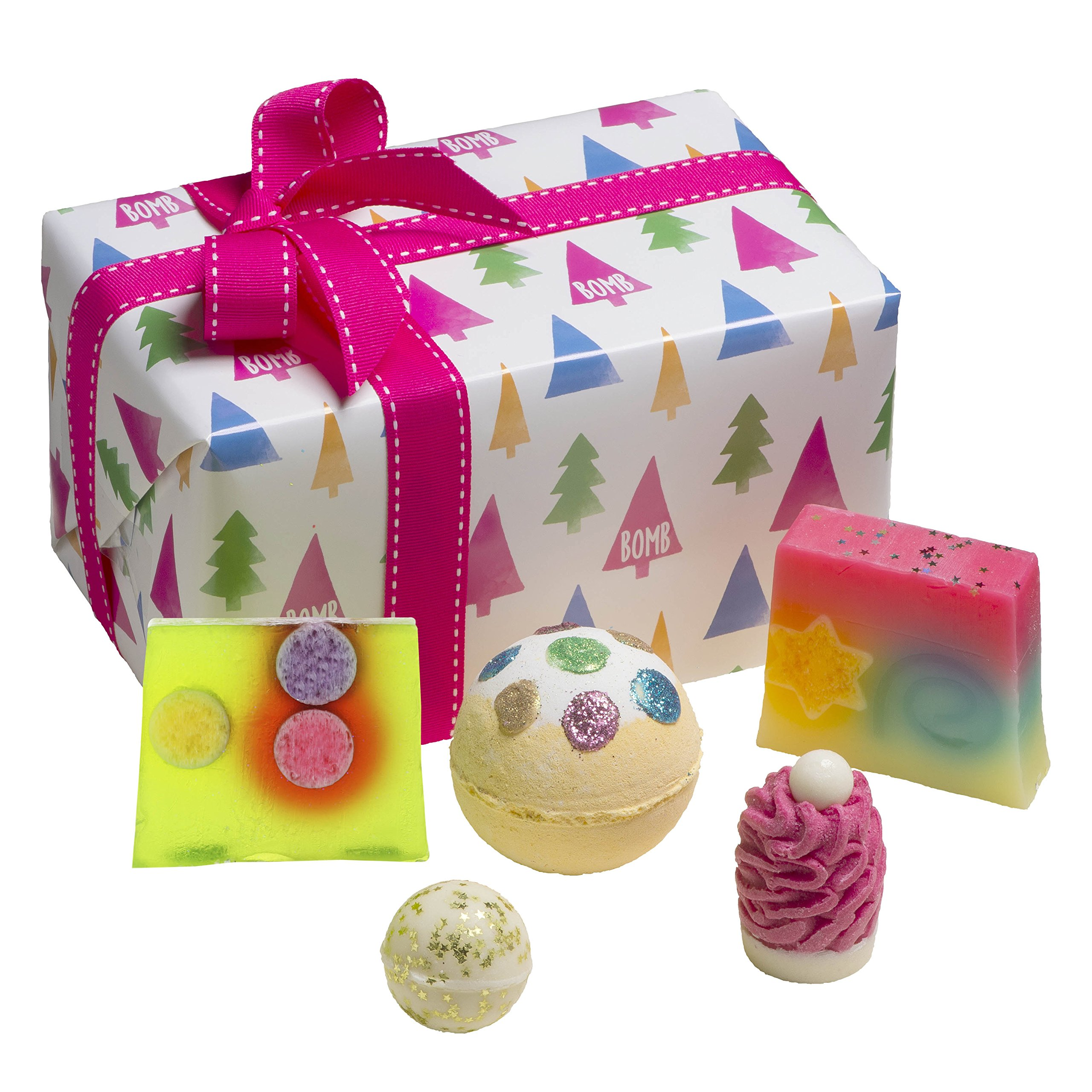 Bomb Cosmetics O Christmas Tree Handmade Wrapped Gift Pack [Contains 5-Pieces], 440g