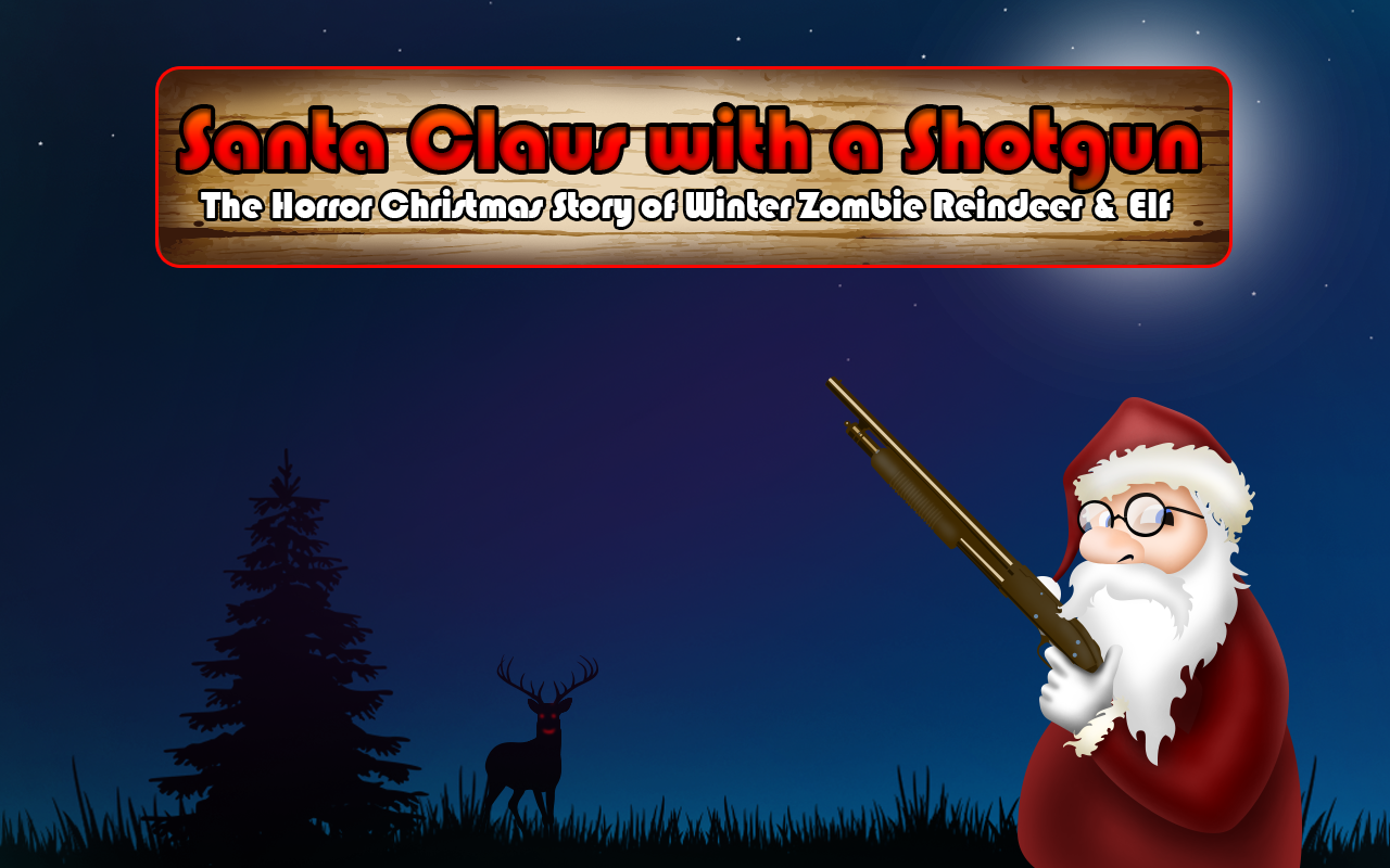 Christmas Zombie Wallpaper.Santa Claus With A Shotgun The Horror Christmas Story Of