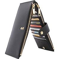 QASGO Portafoglio Donna Grande | Porta Carte Di Credito Donna e Banconote Elegante Rigido Con 2 Cerniere | Portafoglio…