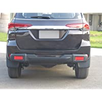 Goldsun Fabulous high Impact ABS Rear Nudge Guard with Rear Step|Rear Bumper Protector with Reflector Strips|for Toyota Fortuner |2016 - Present|All variants|GOO -Matte Black|