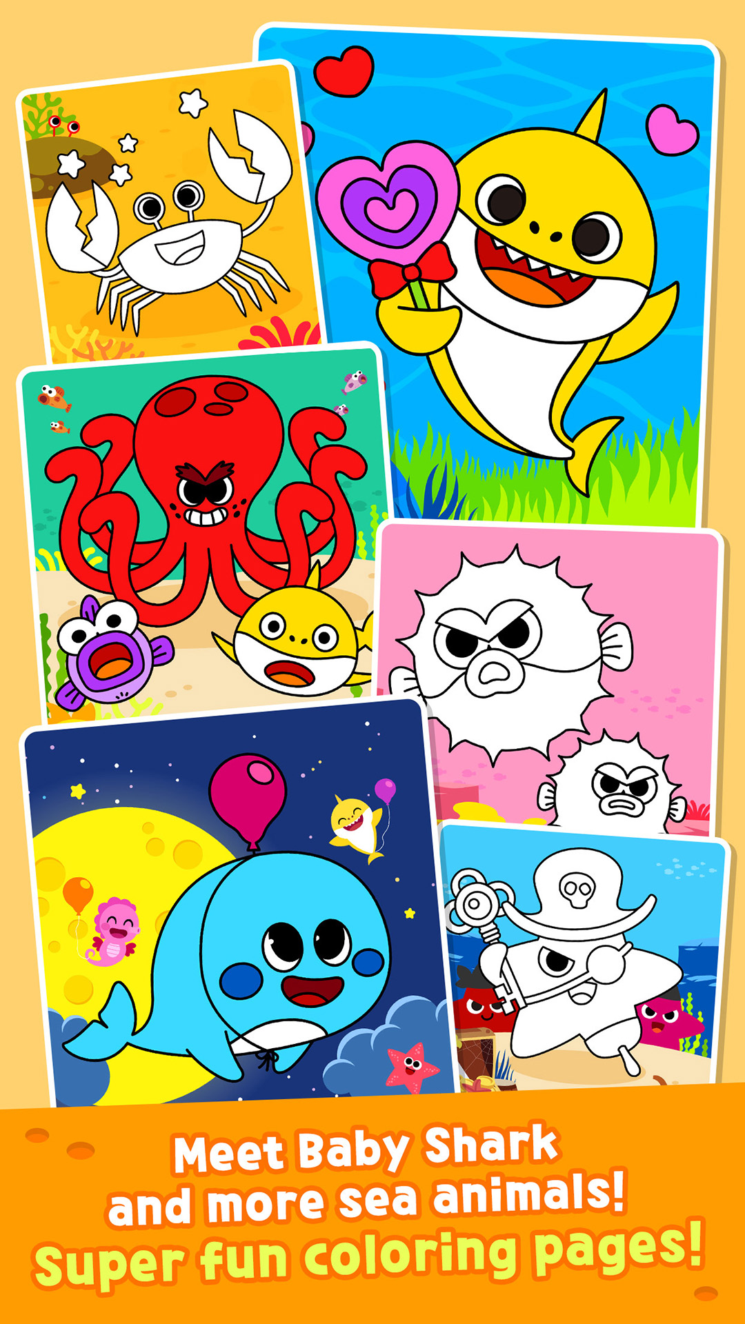 Pinkfong Baby Shark Coloring Book Amazon De Apps Fur Android