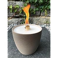 Schmelzlicht taupe/Sand Outdoor Wachs Kerze Reste Tischfeuer Terrassenfeuer Wachsfresser Wachsbrenner Dauerbrenner…