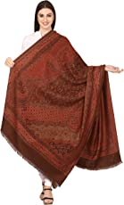 Pashtush Women's Kashmiri Shawl, Jacquard palla, Warm ande soft, Faux Pashmina Design (40 x 80 inches)