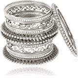Shining Diva Fashion Latest Antique Design Gold Silver Traditional Bangles for Women