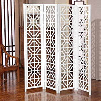 shilpi wooden partition screen made of mango mdf tree design room rh amazon in
