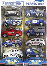 Planet of Toys Kid's Pullback Police Series Cars - (POTPOT0025-F11POLICECARSET) - Pack of 10