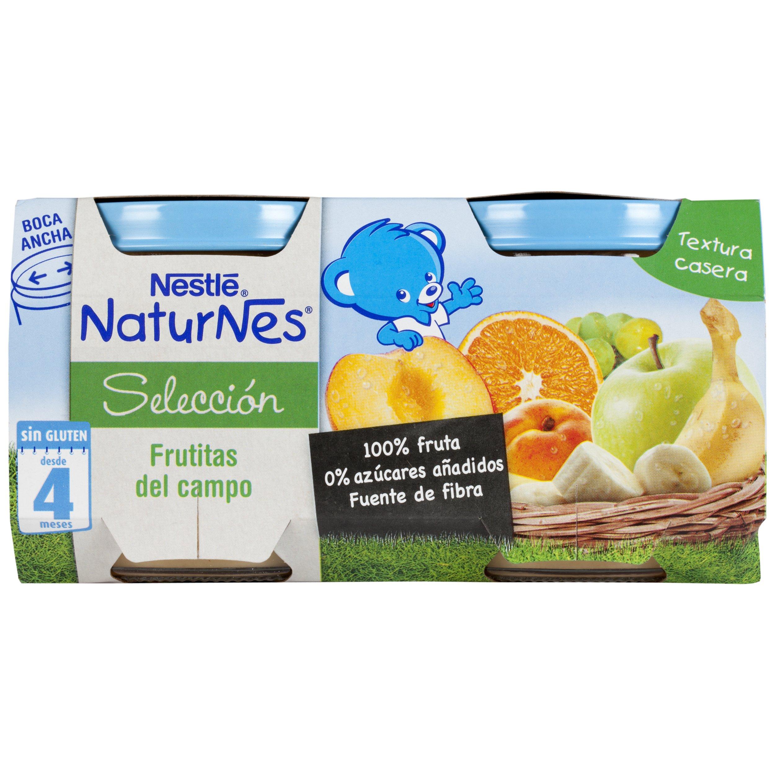 Nestlé Naturnes - Alimento Infantil Puré de Frutas - Paquete de 2 x 200 g - Total: 400 g - [Pack de