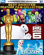 Best Animated Feature Film Collection - Inside Out, Big Hero 6 & Frozen